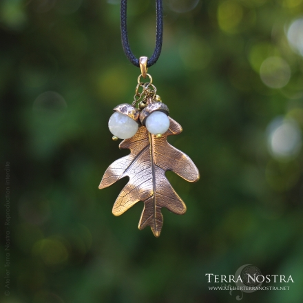 "Pendentif feuille ""Automnal"" — Grand format"