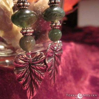 "Boucles d'Oreilles ""Forest shadow"""