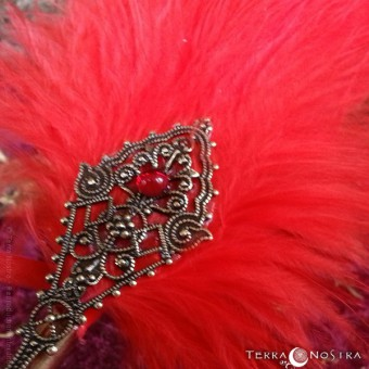 """Red Legend"" feather quill"