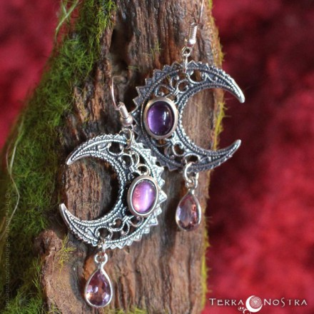 "Boucles d'Oreilles ""Priestess of the Moon"""