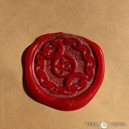 """Triple Moon"" wax seal"