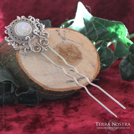 """Abudancia"" double hair pin"