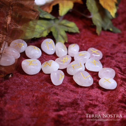 Set de 25 Runes en quartz rose
